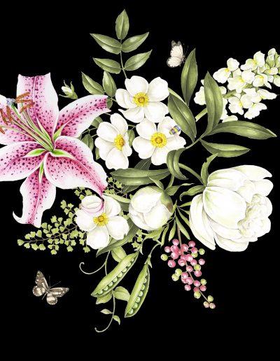 Stargazer Floral (Black)