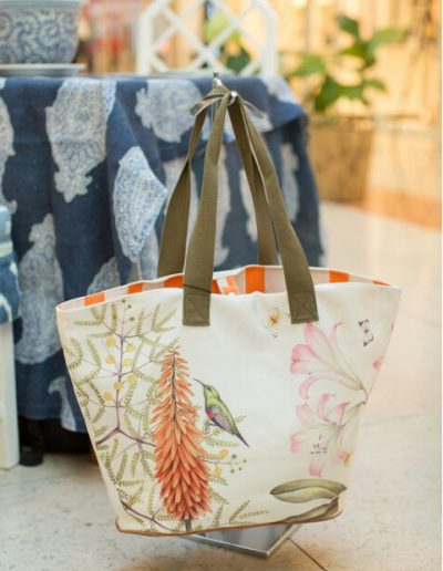 Floral Beach Bag designed by Kelly Higgs